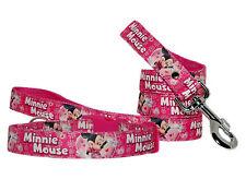rose cerise Minnie Mouse moyen grand collier et laisse de chien KIT rembourré