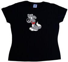 Cartoon Puppy Dog Ladies T-Shirt