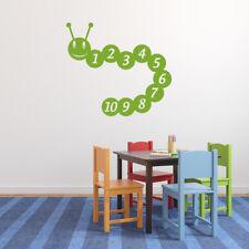 Number Caterpillar Maths Educational Wall Stickers School Classroom Art Decals