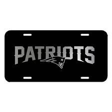 🔥 New England Patriots Plastic License Plate Truck Car Van Black - White 🔥