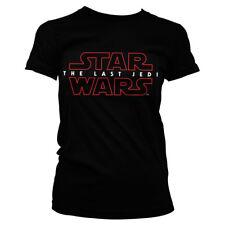 Officially Licensed Star Wars- The Last Jedi Logo Black Women's T-Shirt (S-XXL)