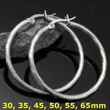 1 Paar große Edelstahl Creolen Ohrringe diamantiert ver. Modelle Größe #1333028