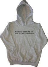 La curiosidad mató al gato niños GRACIOSOS sudadera con capucha