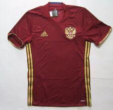 Adidas Russia Home Jersey EURO 2016 Football Soccer Mens Red Gold Adizero