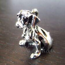 Labrador Retriever Puppy Dog Antiqued Silver Plated Charms C4302 - 2, 5 Or 10PCs