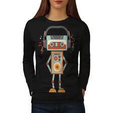 Cute Robot Women Long Sleeve T-shirt NEW | Wellcoda