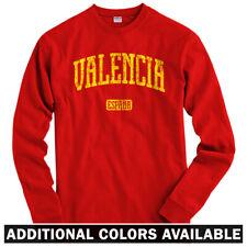 Valencia Spain Long Sleeve T-shirt - LS Men S-4X Gift España CF Los Che Mestalla