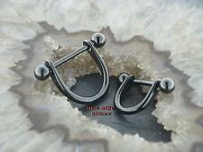 Piercing Nipple Shield STEIGBÜGEL Schwarz Black Intim Brustpiercing Bruststab