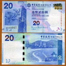 Hong Kong, $20, 2010, BOC, P-341a, UNC