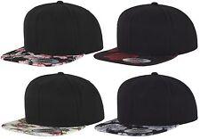FLEXFIT ® FLORAL ROSES SNAPBACK CAP 6Panel Baseball Basecap Urban Classics Kappe