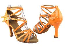 Latin Salsa Tango Very Fine Dance Shoes SERA5008 Flourescent Orange Pink Yellow