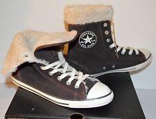 New $127 Converse Cuff CT Dainty XHI Morel Mole Brown Suede Sneakers RARE