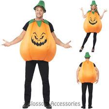 CA23  Adult Unisex Pumpkin Costume Halloween Party Fancy Dress Vegetable Orange