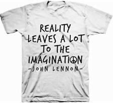 John Lennon Reality Imagination Adult T-Shirt - Rock Band the Beatles Music Tee