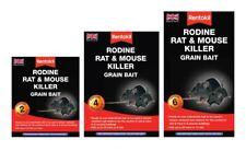 Rentokil RODINE Mouse & Rat Killer Poison Wheat Grain 2, 4  6 Sachets