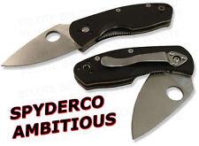 Spyderco Ambitious G-10 Plain Edge Value Folder C148GP
