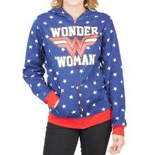 WONDER WOMAN REVERSIBLE ZIP UP HOODIE sweatshirt NWT Juniors S-M-L-XL