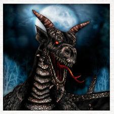 Dragon, Gothic Fantasy Art, Portrait, Fabric Craft Panel - Thrones