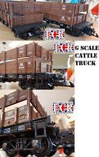 G escala 45mm ganado freight Camión Ferrocarril Cargo Garden de Balanceo STOCK