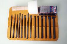 Stone Masonry Mallet Head Chisel Set w/ Hammer & Free Tool Roll/Sharpening Block