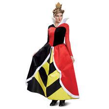 Womens Deluxe Queen Of Hearts Disney Movie Costume