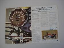 advertising Pubblicità 1977 MOTO KAWASAKI Z650 Z 650