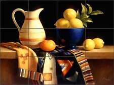 Ceramic Tile Mural Backsplash Poole Fruit Lemon Kitchen Art FPA006