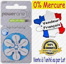 Piles Auditives 0% Mercure 1,45V Power One VARTA P675 PR675 A675 ( code BLEU )