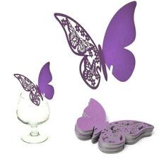 50 pcs Papillon carte pour verre - Mariage Décorations