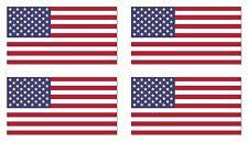 USA US American Flag bumper sticker decal white vinyl