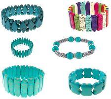 U PICK Wholesale Lot 10 Turquoise Gemstone Boho Stretch Bracelets Fish Southwest