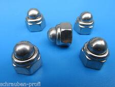 Edelstahl V2A Sicherungs Hutmuttern DIN 986 M4/ M5/M6/M8/M10/M12