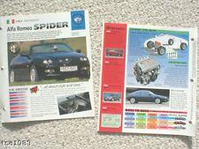 1990's ALFA ROMEO BROCHURES Collection: SPIDER,SZ,GTV,145,156