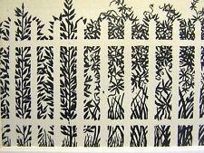 Don Blanding 1948 GARDEN FENCE Art Deco Print Matted