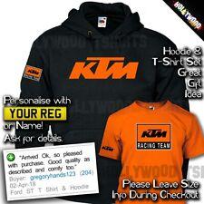 KTM Racing Hoodie and T shirt Set - Motorsport Biker - Rossi 46 - Mens Gift Idea