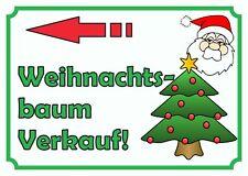 Verkaufsschild Weihnachtsbaum links, Tannenbaum, Christbaum zu verkaufen