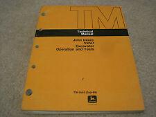 John Deere 595D Excavator Technical Operation and Test Manual *Nice* Tm-1444