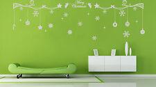 Christmas Decoration Snowflake Vinyl Wall Stickers Wall Decal UK RUI34