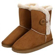 botas invierno cómodo zapatos de mujer cabello como ante beige 168