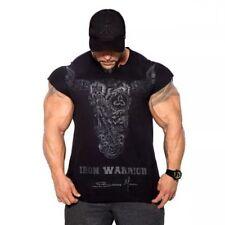 Men's Fashion Bodybuilding Clothing Irregular Fitness Workout T Shirts