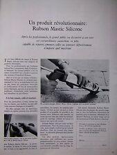 PUBLICITÉ 1969 CARTOUCHE RUBSON MASTIC SILICONE PRODUIT CAOUTCHOUC PÂTE