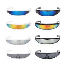 Novelty Futuristic Cyclops Mirror Sunglasses Monoblock Shield Alien Glasses