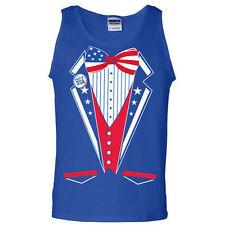 USA United States America merica fourth of july flag murica tuxedo TANK TOP