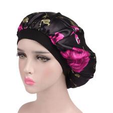 Women Girl Floral Printed Night Sleep Hat Polyester Hair Wrap Chemo Cap Headwear