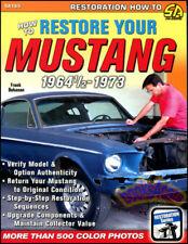 MUSTANG RESTORATION MANUAL BOOK HOW TO RESTORE FORD GUIDE GT BOHANAN SHOP COUGAR
