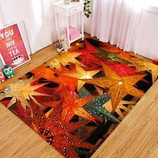 3D Maple Leaf Light A14 Christmas Game Non Slip Rug Mat Photo Carpet Zoe