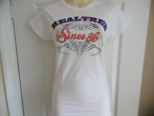 * Nuevo * Realtree Caza armas Damas Blanco T Shirt Tallas S M L XL Gildan Softstyle