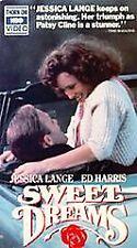 Sweet Dreams - Jessica Lange, Ed Harris (VHS, 1975) PG-13 Color HBO film