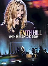 Faith Hill - When The Lights Go Down (DVD, 2003, Amaray Packaging)