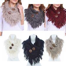 Fashion Women Winter Autumn Warm Soft  Infinity Scarf Plaid  Scarf -Black